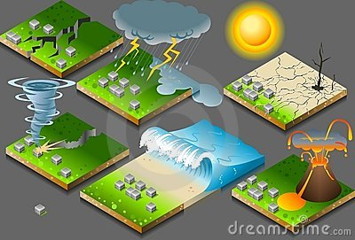 Isometric natural disaster