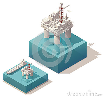 Free Isometric Oil Platform Royalty Free Stock Image - 31726826