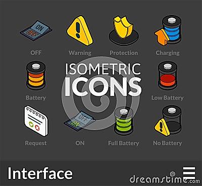 Free Isometric Outline Icons Set 32 Royalty Free Stock Image - 77505236