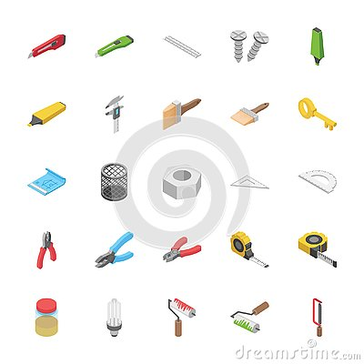 Free Isometric Pack Of Objects Stock Photos - 132073983