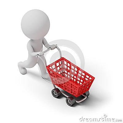 Isometric people - cart