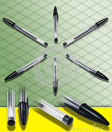 ISOMETRIC PHOTOGRAPH of a Ballpoint Pen