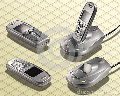 Isometric Photograph - Cordless Telephone wireless