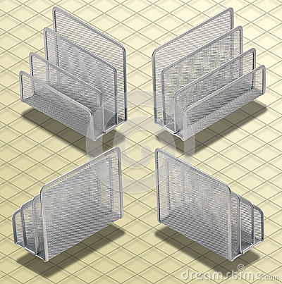 Isometric Photograph - Set of Desk Organizers Isoa