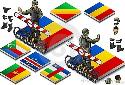 Isometric representation of Frontier militarily cl