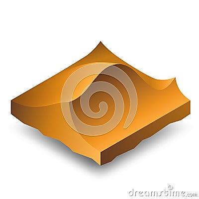 Isometric sand dunes