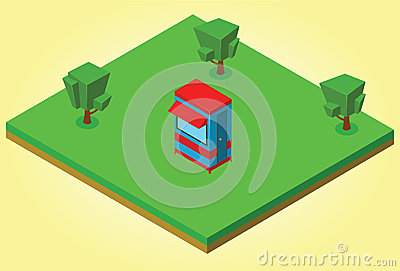 Isometric security cabin