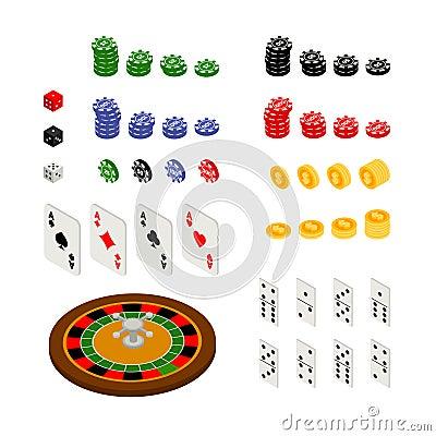 Isometric set of gambling and casino items Isometric Set Of Gambling And Casino Items Stock Vector - Image: 58332867 - 웹