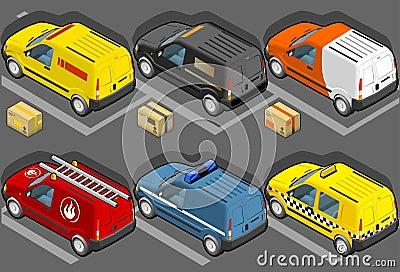 Isometric van in six models