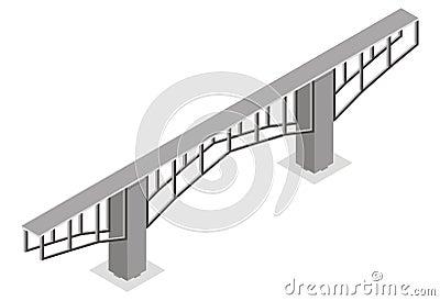 Isometric view of the bridge,