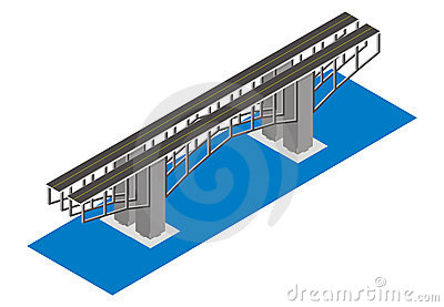 Isometric view of the bridge