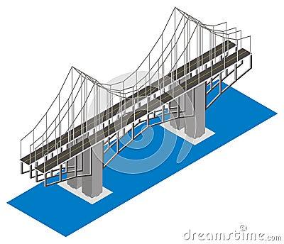 Isometric view of the bridge