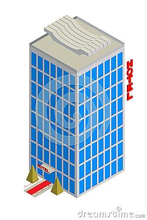 Isometrisch hotelpictogram