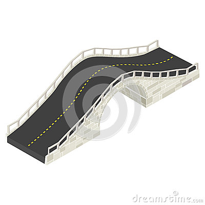 Isometrische Steinbrücke