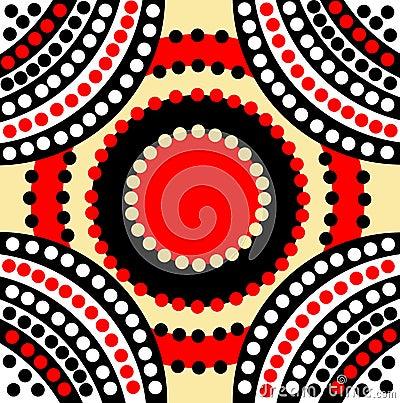Ispirazione di sogno calma di arte del puntino