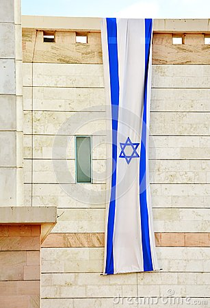Free Israel Flag Hanging For Independence Day Stock Images - 40139384