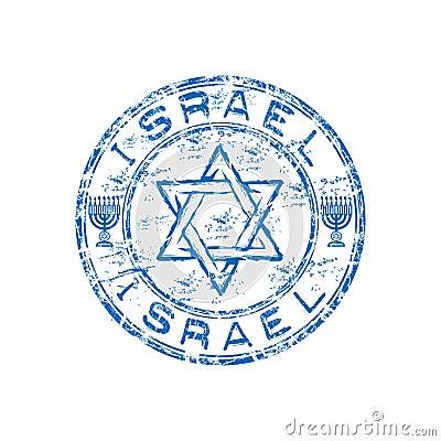 Israel grunge rubber stamp