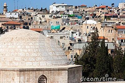 Israel, Jerusalem, Muslim quarter, Roofs