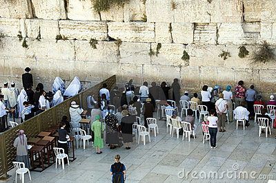 Israel Jerusalem wailing wall woman Editorial Photo
