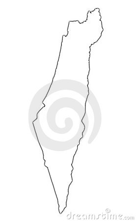 Israel outline map