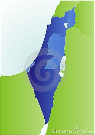 Israel and West Banks map