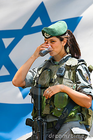 Israeli army girl Editorial Image
