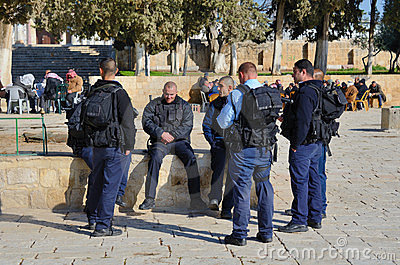 Israeli Border Police Editorial Photo