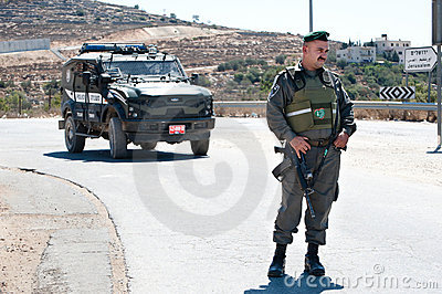 Israeli Border Police Soldier Editorial Stock Image