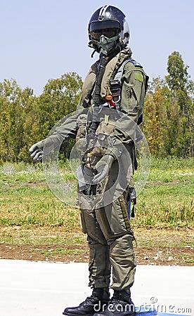 Israeli combat suit pilot