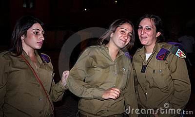 Israeli female soldiers Editorial Photography