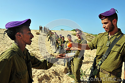 Israeli IDF soldiers Celebrate Rosh Hasahanah Editorial Photo