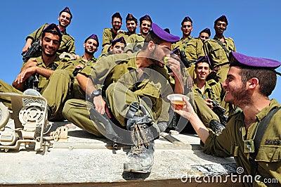 Israeli IDF soldiers Celebrate Rosh Hasahanah Editorial Image