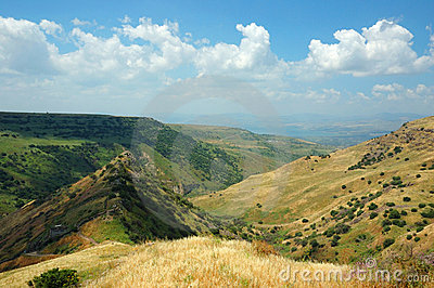 Israeli national park Gamla fortress,Golan Hights