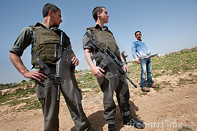 Israeli Occupation Soldiers in Palestine Editorial Image