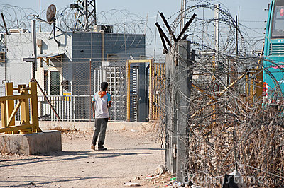 Israeli Separation Barrier Checkpoint Editorial Stock Image