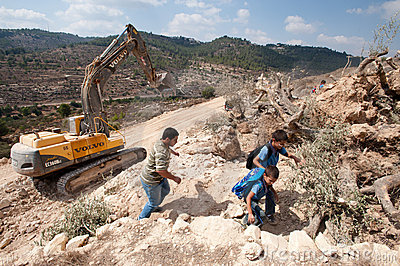 Israeli Separation Barrier Construction Editorial Photography