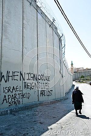Israeli Separation Barrier in East Jerusalem Editorial Image