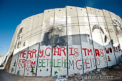 Israeli Separation Wall in Bethlehem Editorial Image
