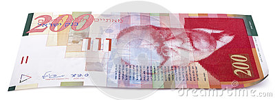 Isolated 200 Israeli Shekels Bill