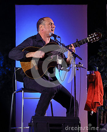 Israeli singer songwriter David Broza Editorial Stock Image