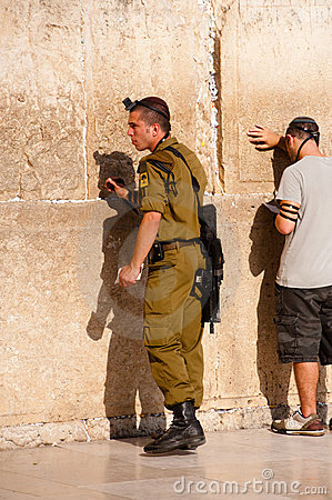 Israeli Soldier in Jerusalem Editorial Image