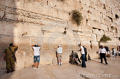 Israeli Soldier in Jerusalem Editorial Photo