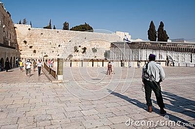 Israeli Soldier in Jerusalem Editorial Stock Photo