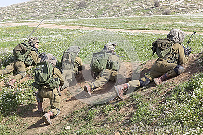 Israeli soldier training Editorial Stock Photo
