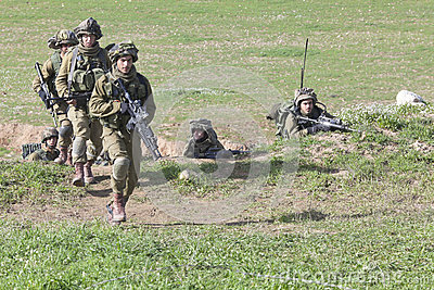 Israeli soldier training Editorial Stock Image