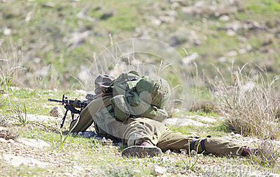 Israeli soldier training Editorial Photography