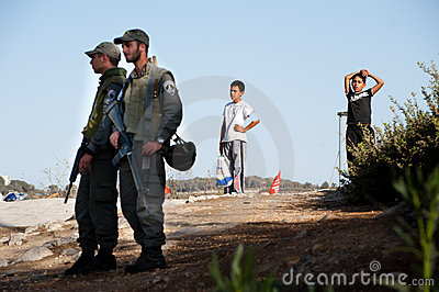 Israeli Soldiers in East Jerusalem Editorial Stock Image