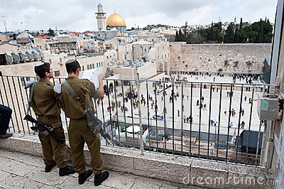 Israeli Soldiers in Jerusalem s Old City Editorial Photography