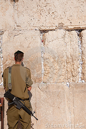 Israeli Soldiers at Jerusalem s Western Wall Editorial Photography