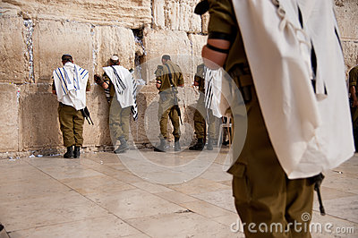 Israeli soldiers at Jerusalem s Western Wall Editorial Image